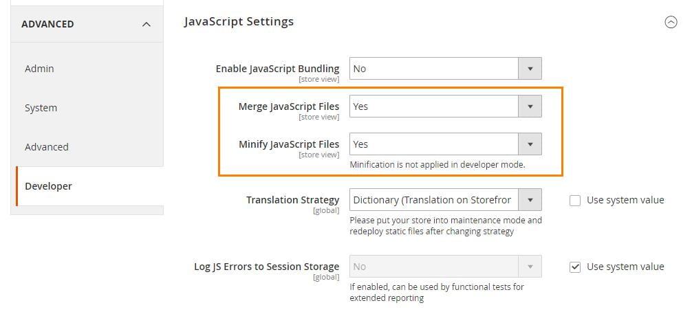 Minify JavaScript Files