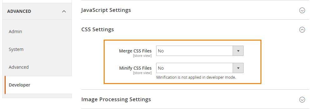 Minify CSS Files