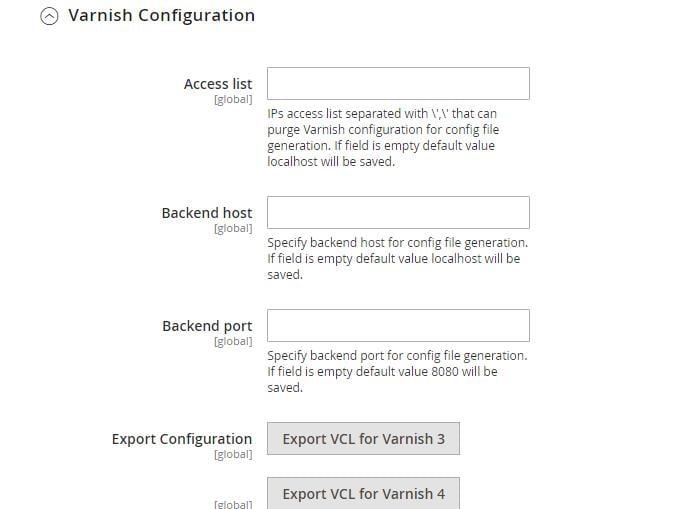 Varnish Configuration
